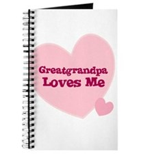 Greatgrandpa Loves Me Journal