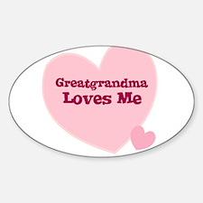 Greatgrandma Loves Me Oval Decal