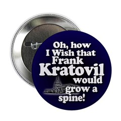 Spineless Frank Kratovil Campaign Button