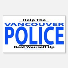 Help Vancouver Police Rectangle Decal