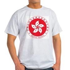 Hong Kong Coat Of Arms Ash Grey T-Shirt