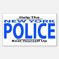 Help New York Police Rectangle Decal