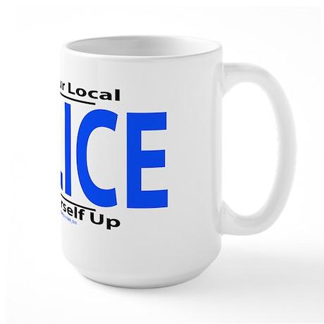 Help Your Local Police Large Mug