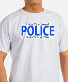 Help Your Local Police Ash Grey T-Shirt