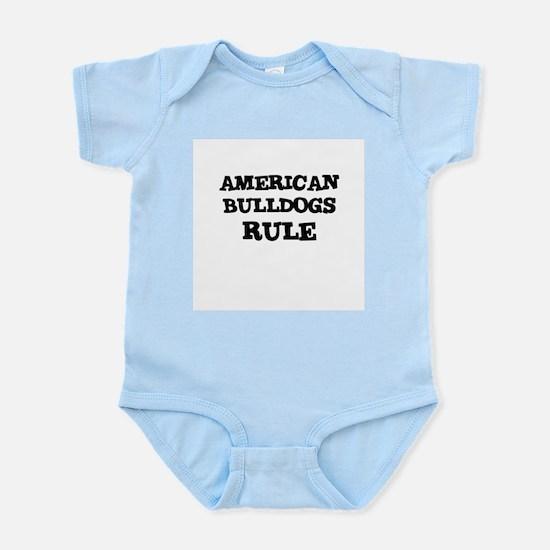 AMERICAN BULLDOGS RULE Infant Creeper