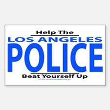 Help Los Angeles Police Rectangle Bumper Stickers