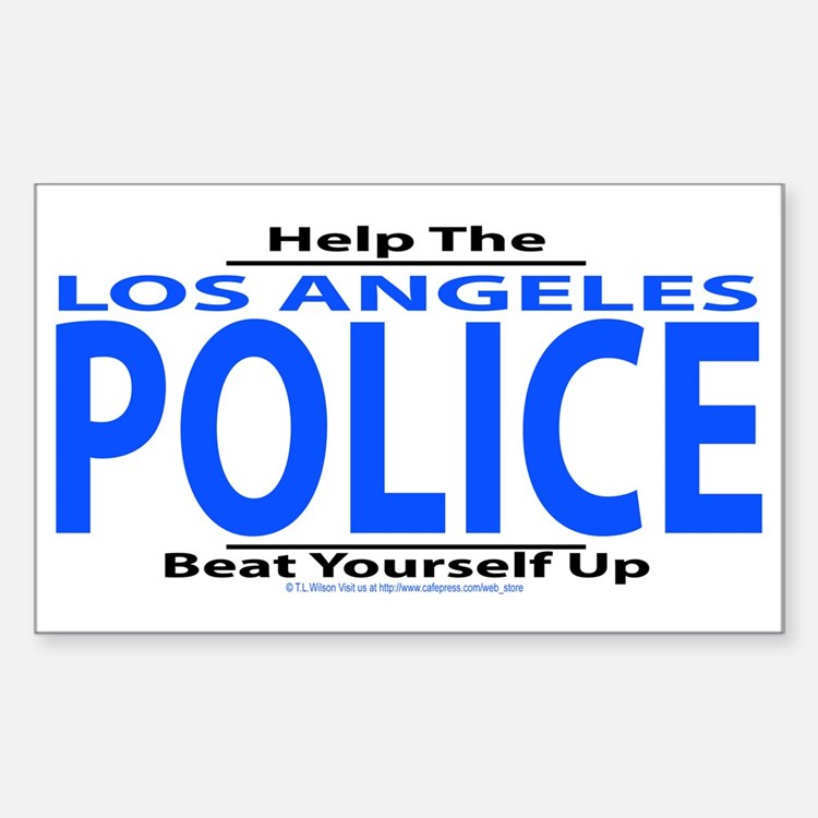 Help Los Angeles Police Rectangle Decal