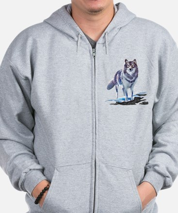 Wolves In Fall Zipped Hoody