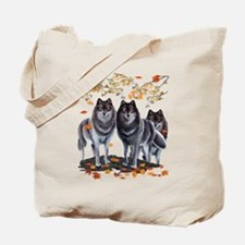 Wolves In Fall Tote Bag