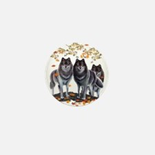 Wolves In Fall Mini Button (10 pack)