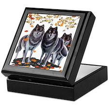 Wolves In Fall Keepsake Box