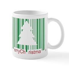 Merry Christmas Barcode Mug