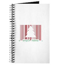 Merry Christmas Barcode Journal