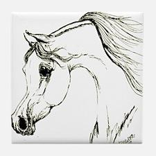 Unique Arabian horse Tile Coaster