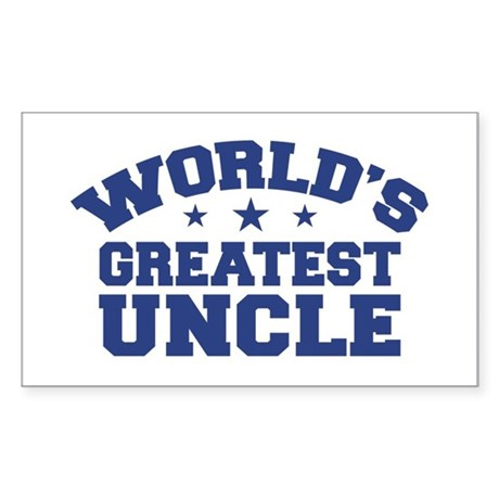 World's Greatest Uncle Rectangle Sticker