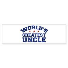 World's Greatest Uncle Bumper Bumper Sticker