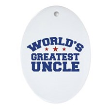 World's Greatest Uncle Oval Ornament