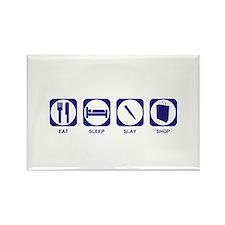 Eat Sleep Slay Shop Rectangle Magnet