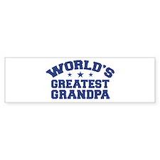 World's Greatest Grandpa Bumper Bumper Sticker