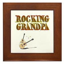 Cute Granddad Framed Tile