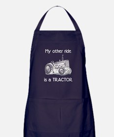 Ride a Tractor Apron (dark)