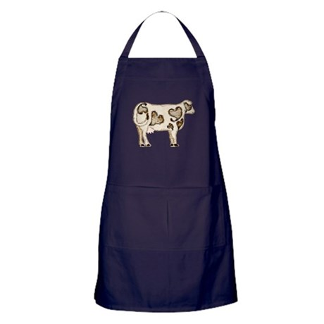 Love Cow Apron (dark)