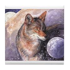 Coyote Moon Tile Coaster