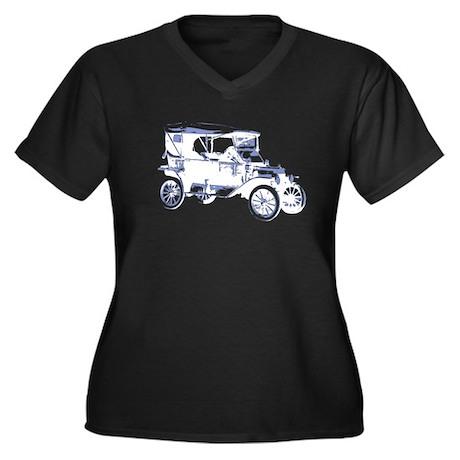 Model T Women's Plus Size V-Neck Dark T-Shirt