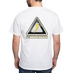Storm Chaser Lightning White T-Shirt