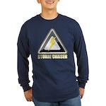 Storm Chaser Lightning Long Sleeve Dark T-Shirt