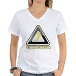 Storm Chaser Lightning Women's V-Neck T-Shirt