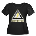Storm Chaser Lightning Women's Plus Size Scoop Nec