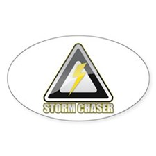 Storm Chaser Lightning Oval Decal