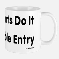 Accountants Do It With Double Entry_black Mugs