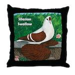 Silesian Swallow Throw Pillow