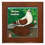 Silesian Swallow Framed Tile