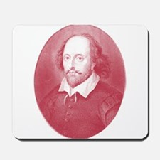 Red Faced William Shakespeare Mousepad