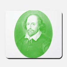 William Shakespeare Gone Green Mousepad