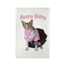 Retro Kitty Rectangle Magnet