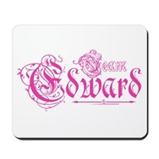Team Edward Gothic Pink Mousepad