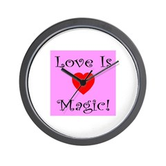 Love Is Magic Wall Clock