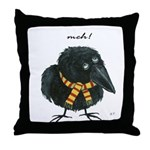 Meloncholy Crow Throw Pillow