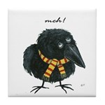 Meloncholy Crow Art Tile
