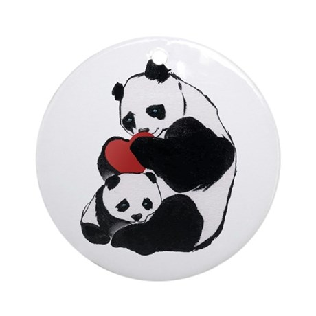 Panda Love Ornament (Round)