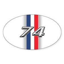 Cars 1974 Oval Decal