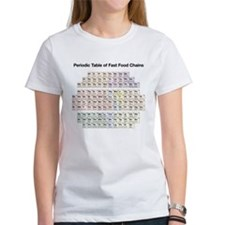 Periodic Table of Fast Food Chains Tee