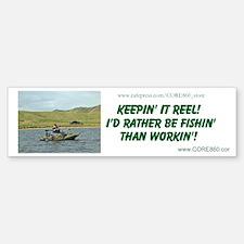 Rather Be Fishin' (GRNPONTOON) - Sticker (Bumper)