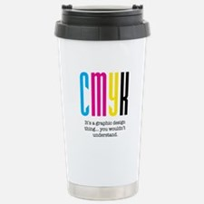 cmyk design thing Travel Mug