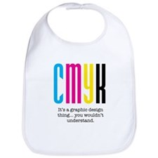 cmyk design thing Bib