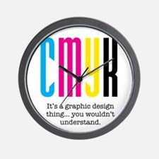 cmyk design thing Wall Clock